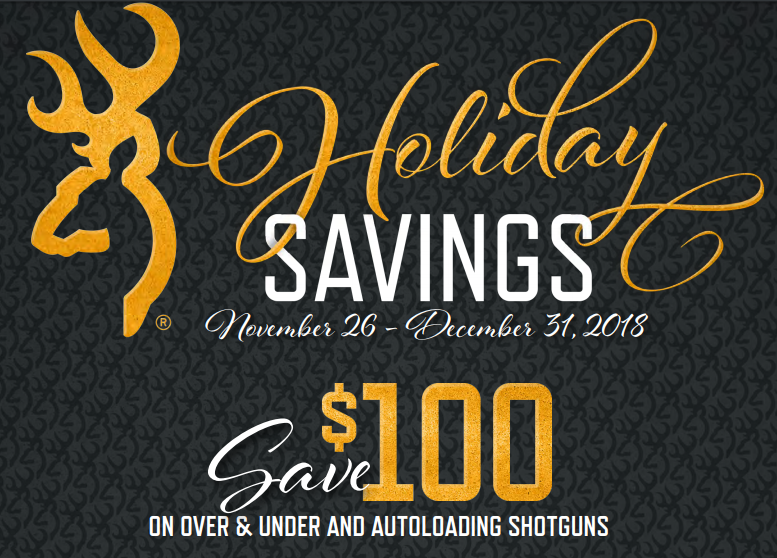 Get $100 back from Browning on the purchase of a New Browning Over Under